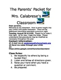 Introduction to your classroom packet for parents
