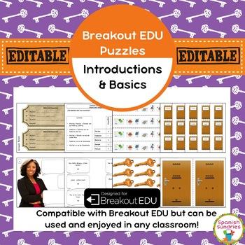 Introductions & Spanish Basics Breakout EDU Puzzle