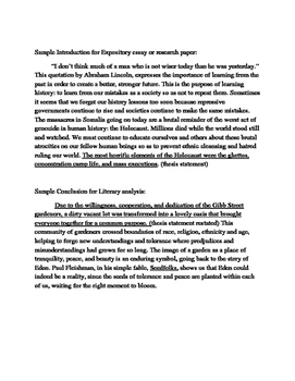 Introductions and Conclusions Examples