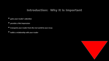 Introductions and Conclusions PowerPoint - FSA Writing (Editable)
