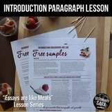 Introductions are like Free Samples (DISTANCE LEARNING): Lesson for ANY Essay!