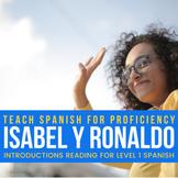 "Introductions reading in Spanish - ""Me llamo Ronaldo"""
