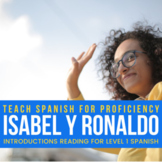 Introductions reading in Spanish - Isabel y Ronaldo