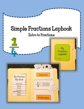 Introductions to Fractions Lapbook.  Simple Beginner Basic