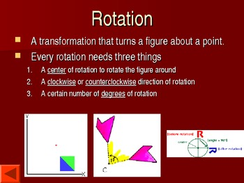 Introductions to Transformations Math 8 PowerPoint