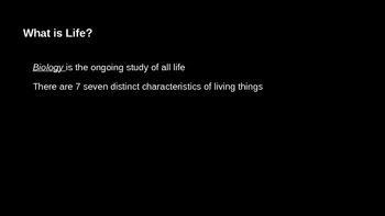 Introductory Biology Lecture Slides