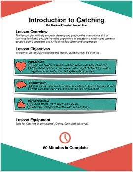 Introductory Catching Lesson Plan