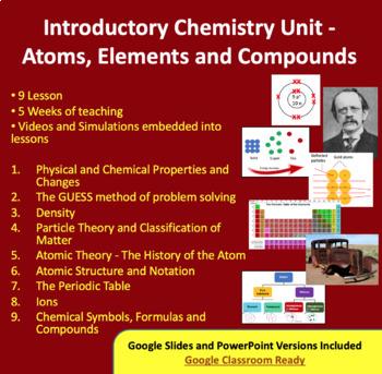 Chemistry Introduction Unit - Atoms, Elements and Compounds