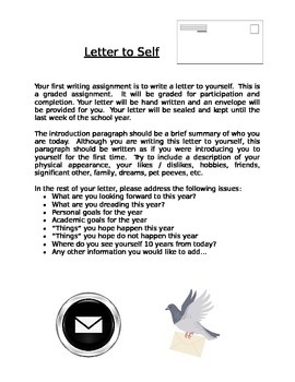 Introductory Exercise: Letter to Self