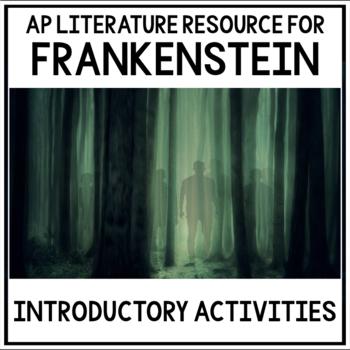 Introductory Frankenstein Activities for AP Literature & Composition Bundle