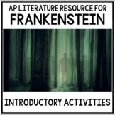 Introductory Frankenstein Activities for AP Literature & C
