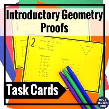Introductory Geometry Proofs Task Cards