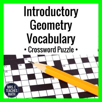Introductory Geometry Vocabulary Crossword Puzzle
