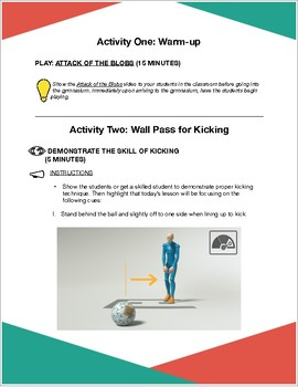 Introductory Kicking Lesson Plan
