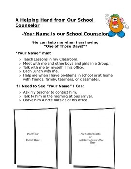 Introductory Lesson to the School Counselor