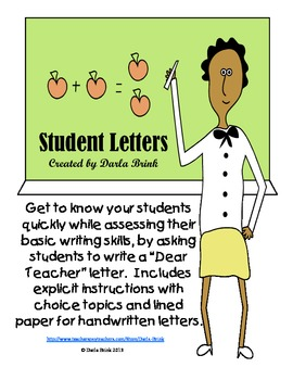 Introductory Letter: Dear Teacher...