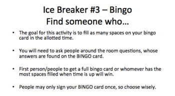 Introductory Materials - Ice Breakers for Students (Powerpoint)!