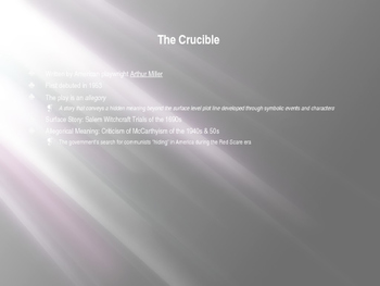 Introductory Notes & Reading Activities for The Crucible