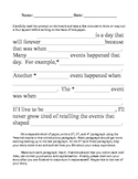 Introductory Paragraph Writing Form
