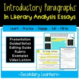 Introductory Paragraph Writing How To   Literary Analysis