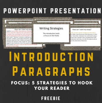 Introductory Paragraphs: The Hook