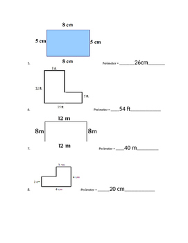 Introductory Perimeter Worksheet