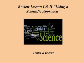 "Intro. Physics ActivInspire Review Lessons I & II ""Using a Scientific Approach"""