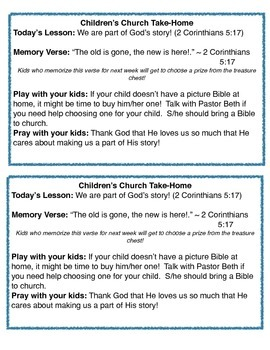 Introductory Preschool Lesson