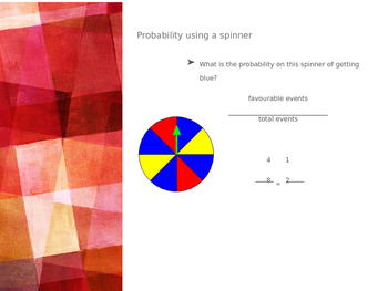 Introductory Probability Lesson PowerPoint Version Grade 6, 7, 8