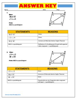 Introductory Quadrilateral Proofs with Complete Key