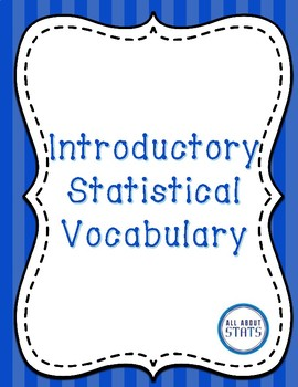 Introductory Statistical Vocabulary