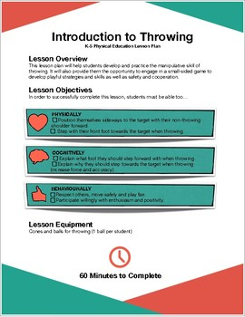 Introductory Throwing Lesson Plan