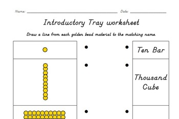 Introductory Tray Worksheet 2 - Decimal System