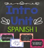 Introductory Unit Spanish I Bundle