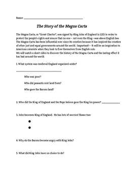 Introductory Video Guide to the Magna Carta