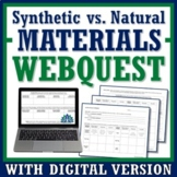 Webquest Activity:  Synthetic & Natural Materials Society Impact NGSS MS-PS1-3