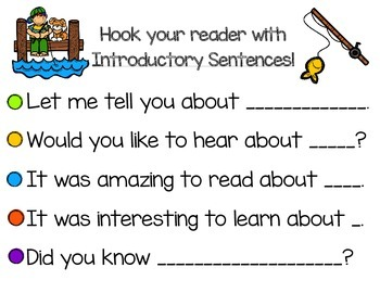 Introductory and Conclusion Sentence Starters