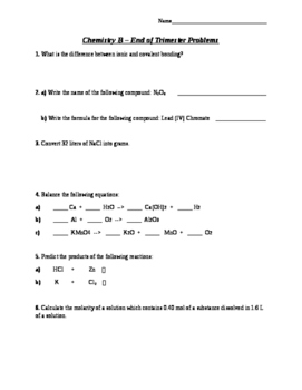 Introductory and End of Semester Questions
