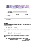 Demonstrative Pronouns (celui, celle, ceux, celles) : Introductory Handout