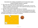 Intructions for Making Basketballs Out of Construction Paper