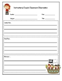 Instructional Coaching Forms Pirate Themed