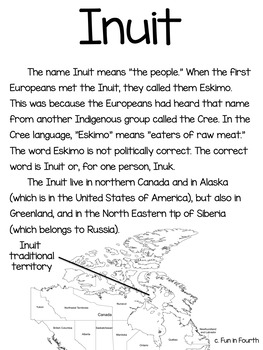 Inuit: Indigenous (First Nations, Aboriginal) Cultures Informational Article