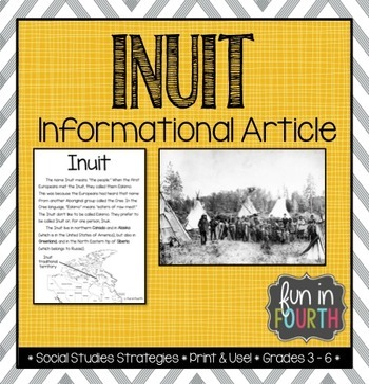 Inuit: Aboriginal Cultures Informational Article