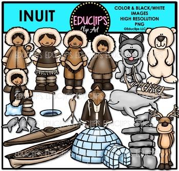 Inuit Clip Art Bundle {Educlips Clipart}