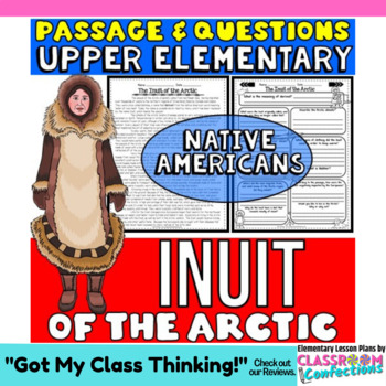 Native Americans Activity: Inuit Passage with Questions