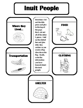 Inuit People- Interactive Notebook Worksheet
