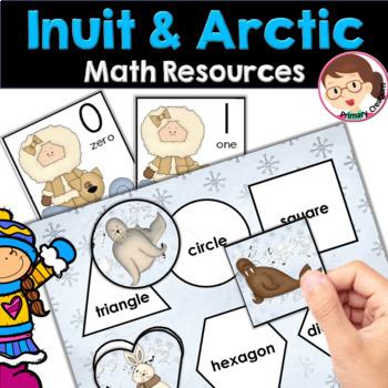 Winter Activities Arctic Animals Inuit Life for Preschool and PreK Bundle