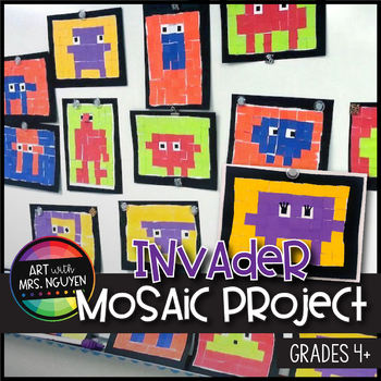 Elementary Art Lesson: Invader Mosaic Project - Math, Technology, Art!
