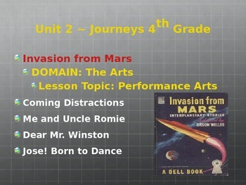 Invasion From Mars ~ Journeys 2014, Grade 4 ~ Unit 2 Lesson 6