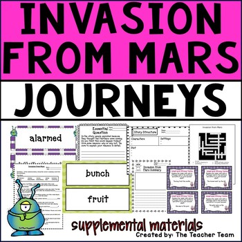 Invasion From Mars Journeys 4th Grade Unit 2 Lesson 6 Activities and Printables